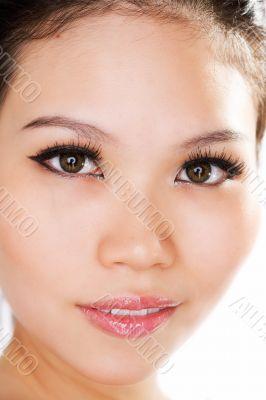 facial closeup asian girl