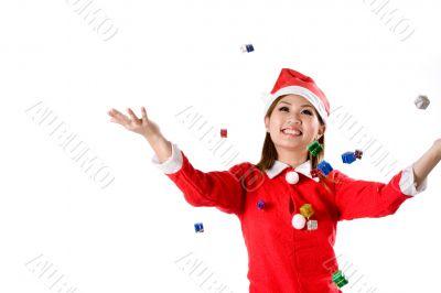 falling christmas gifts
