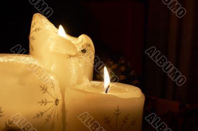 Trio of Xmas candles