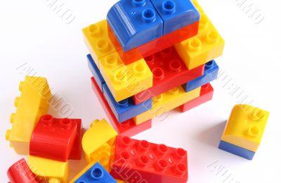 Colourful set of toy bricks