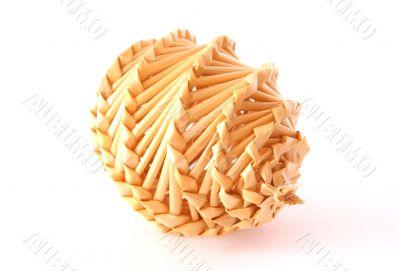 Nice straw decorative object on white
