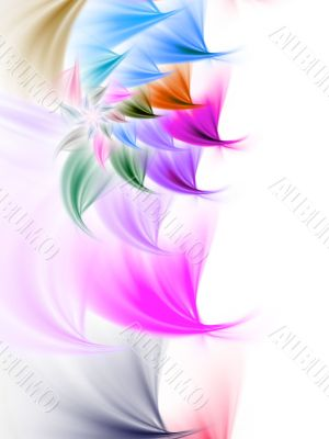 Fractal Abstract Background - Petal Border