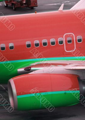large passenger airplane