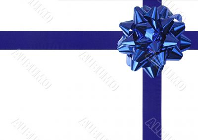 Blue Gift wrapping