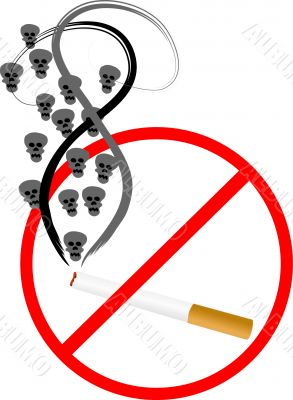 Cigarette with skulls