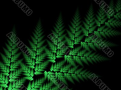 Fractal Abstract Background - Woven leaf