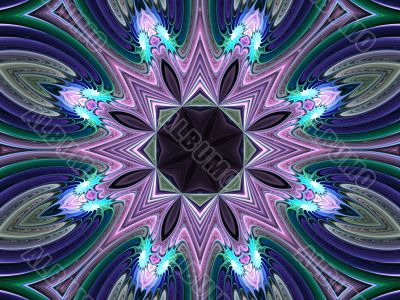 Fractal Abstract Background - Pastel kaleidoscope
