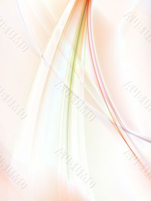 Fractal Abstract Background - Flowing threads