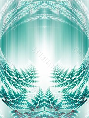 Fractal Abstract Background - Layered green