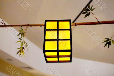 Hanging lantern in japanese restaurant