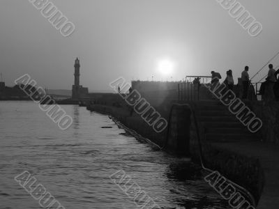 Old Venetian port of Chania, Greece