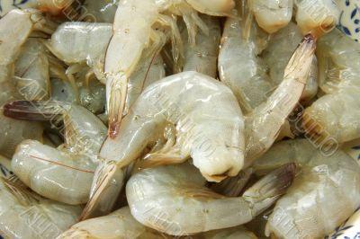 Whole raw prawns