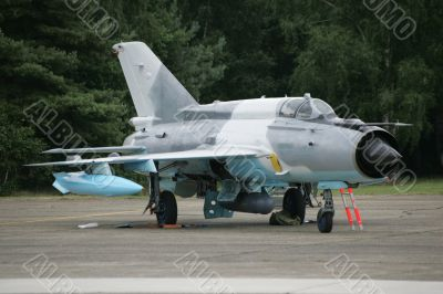 Soviet-era jet fighter
