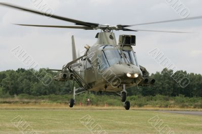 Helicopter in take-off