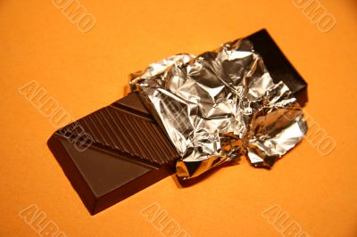 Chocolate in the opened packing.