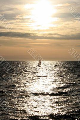 Yacht on a solar way