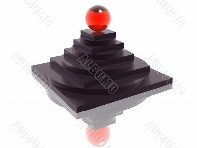 striped pyramid