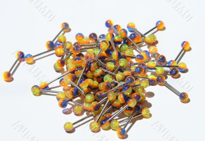 colorful tongue rings