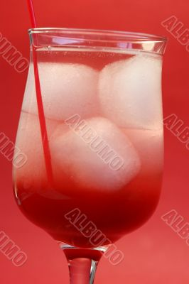 delicious red cocktail
