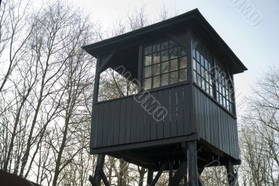 watch-tower in camp