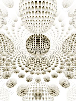 Fractal Abstract Background - 3d layered spheres