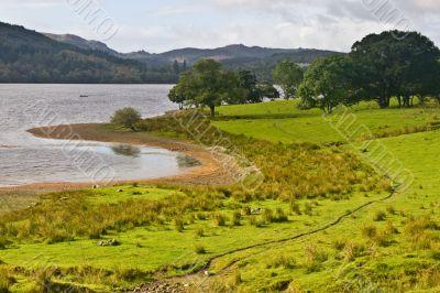 Peaceful lake in Scotland