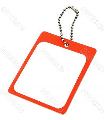 blank price tag on white