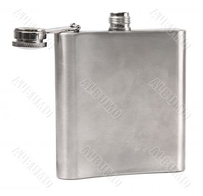hip flask on white