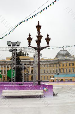 The Palace Square rink