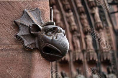 Head of a mythical animal