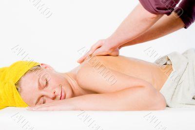 Wellness girl series shoulder massage