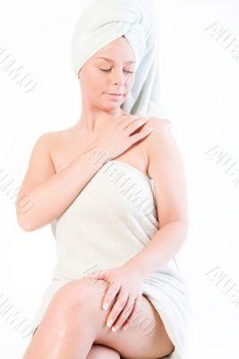 Wellness girl series touching