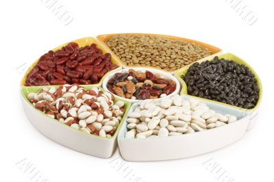 Colorful mix of dried legumes