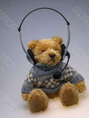toy  bear with  speakerphone