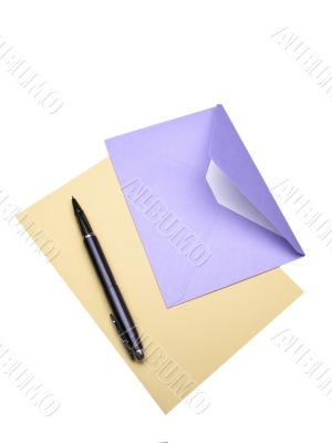envelope and pen