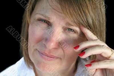 Thoughtful Middle Aged Woman