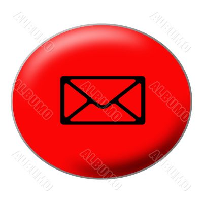 Oval Red Mail Button