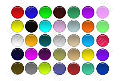 Round Aqua Buttons