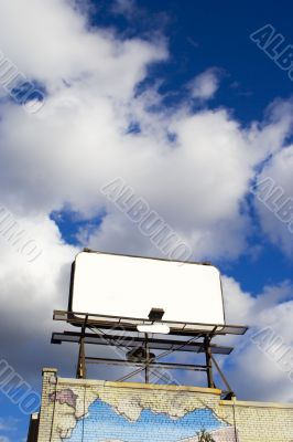Place your text here - empty ad space in the sky