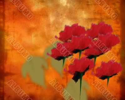 Abstract Floral Composition