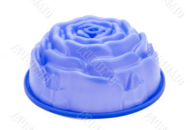 Blue form for pie