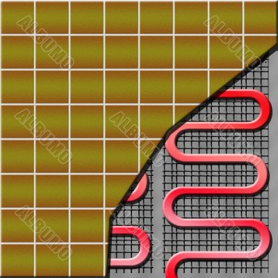 electrical floor heater under ceramic tiles