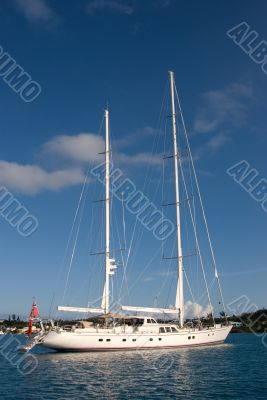 Large beautiful yacht