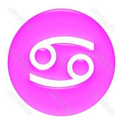Cancer 3D Pink Gel Framed