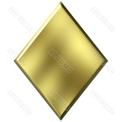 3D Golden Diamond
