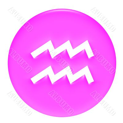 Aquarius 3D Pink Gel Framed