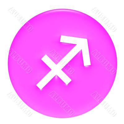 Sagittarius 3D Pink Gel Framed