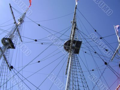 Masts with rigging