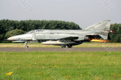 Jet figther in take-off