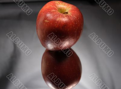 Red Apple With Reverberation
